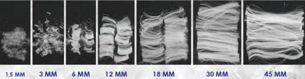 Фиброволокно различных размеров