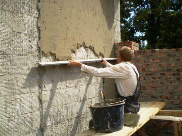 Отделка цементной основой