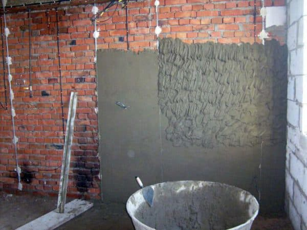 Цементно-песчаная штукатурка
