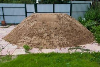Объем песка в тонне