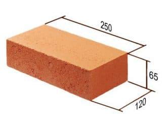 Размер красного кирпича для цоколя