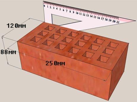 размеры полуторного кирпича облицовочного