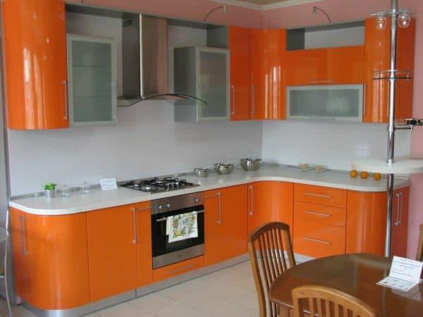 Мебель на кухню с закругленными углами