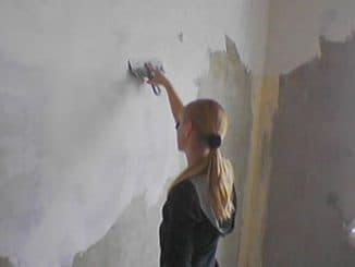 Цена шпаклевки стен под обои
