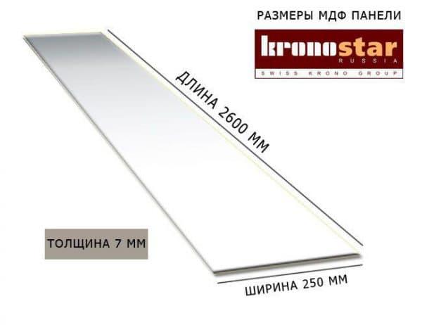 Размер панели