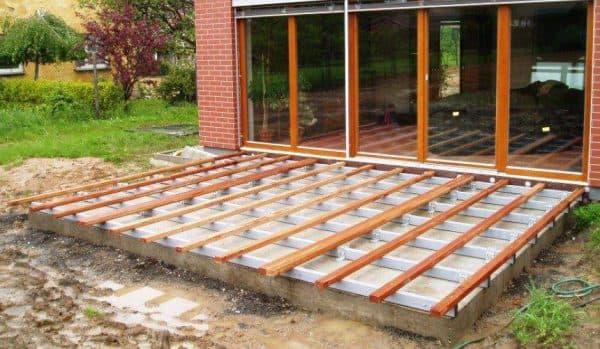 Укладка на бетон