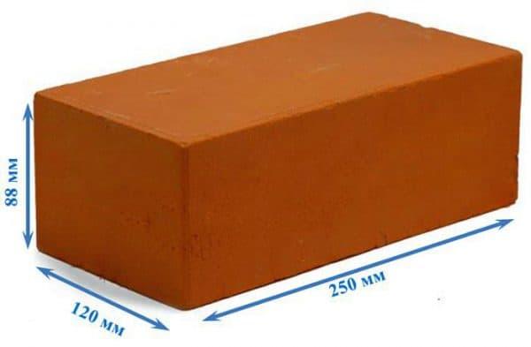 Количество кирпича в 1м2 кладки калькулятор